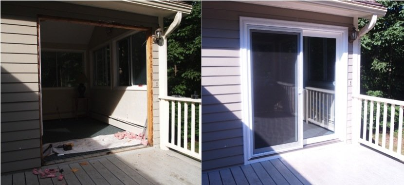 Sliding Patio Door Installed Full Slider Replacement With